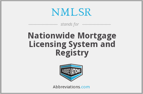 What does NMLSR stand for?