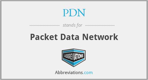 PDN - Packet Data Network