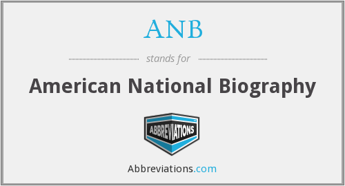 ANB - American National Biography