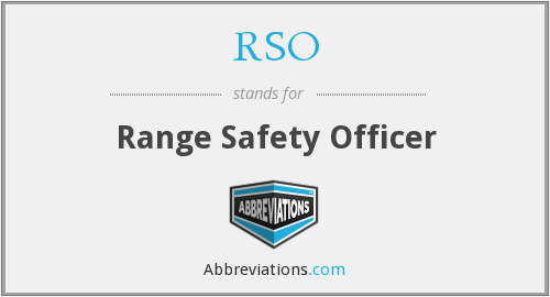 RSO - Range Safety Officer