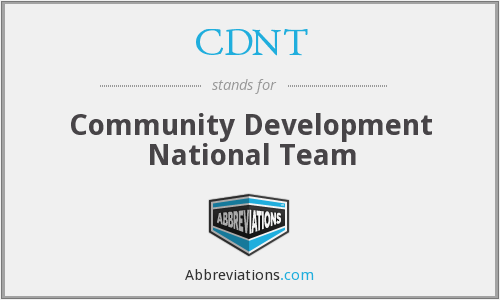 What does CDNT stand for?