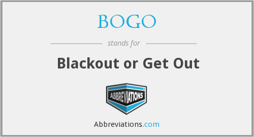 What does blackout stand for?