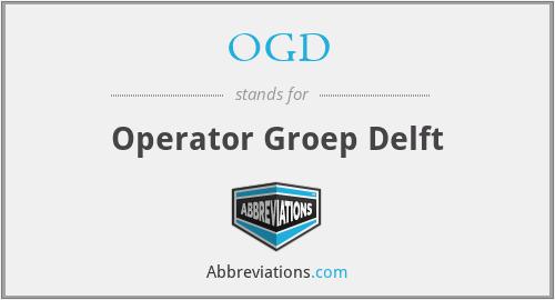 OGD - Operator Groep Delft