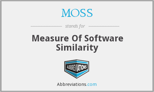 MOSS - Measure Of Software Similarity