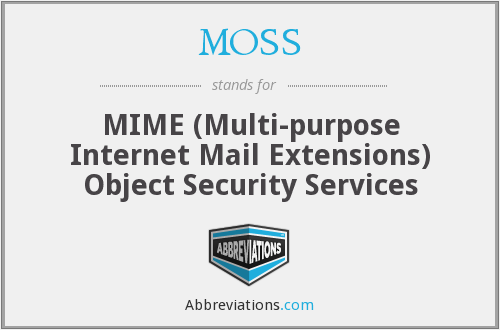 MOSS - MIME (Multi-purpose Internet Mail Extensions) Object Security Services