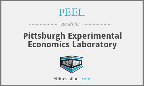 PEEL - Pittsburgh Experimental Economics Laboratory