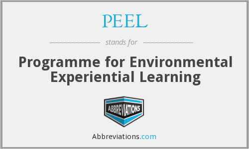 PEEL - Programme for Environmental Experiential Learning