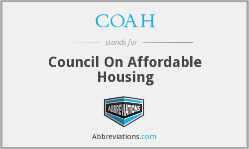 COAH - Council On Affordable Housing