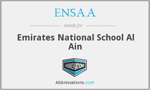What does ENSAA stand for?