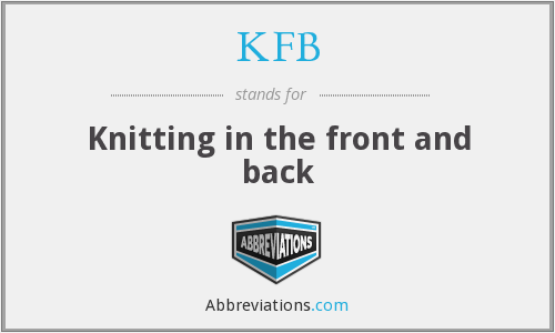KFB - Knitting in the front and back