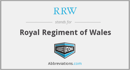 RRW - Royal Regiment of Wales