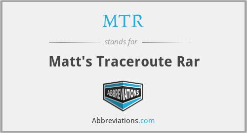 MTR - Matt's Traceroute Rar