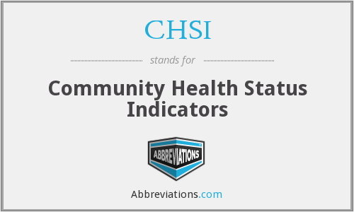 What does CHSI stand for?