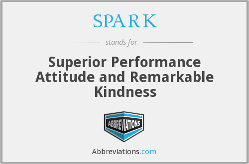 SPARK - Superior Performance Attitude and Remarkable Kindness