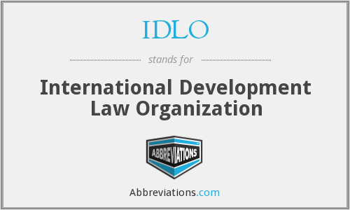 What does IDLO stand for?