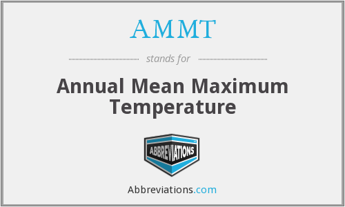 AMMT - Annual Mean Maximum Temperature
