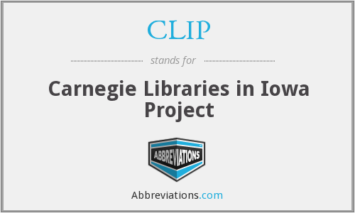 CLIP - Carnegie Libraries in Iowa Project