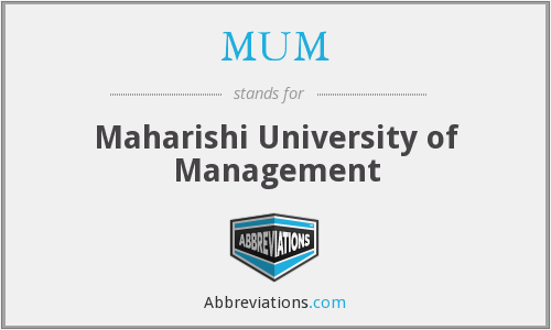 MUM - Maharishi University of Management
