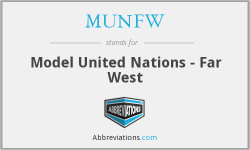 MUNFW - Model United Nations - Far West
