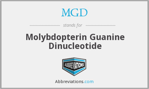MGD - molybdopterin guanine dinucleotide