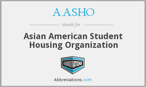 AASHO - Asian American Student Housing Organization