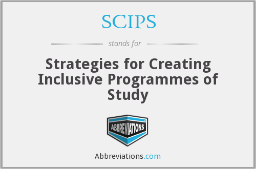 SCIPS - Strategies for Creating Inclusive Programmes of Study