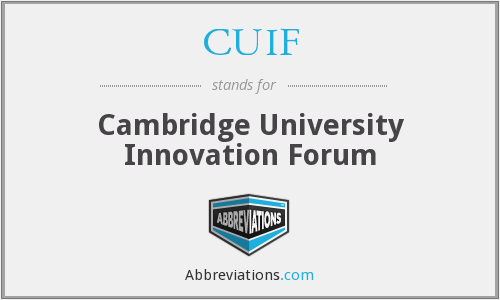 CUIF - Cambridge University Innovation Forum