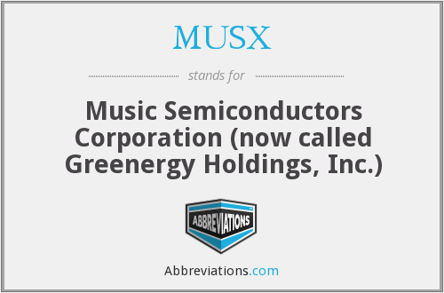 What does MUSX stand for?