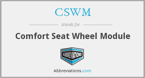 What does CSWM stand for?