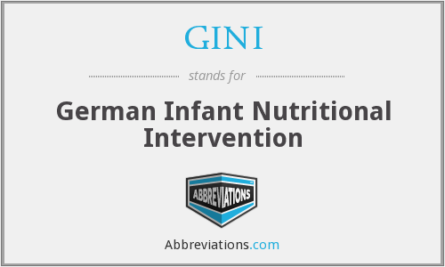 GINI - German Infant Nutritional Intervention