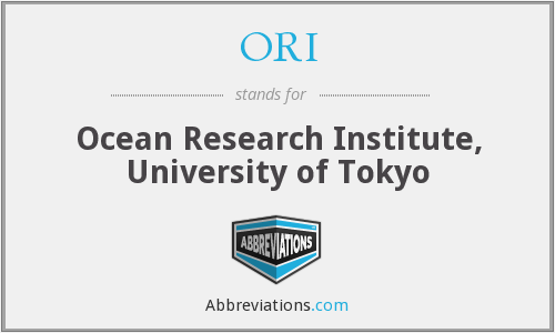 ORI - Ocean Research Institute, University of Tokyo