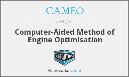 CAMEO - Computer-Aided Method of Engine Optimisation