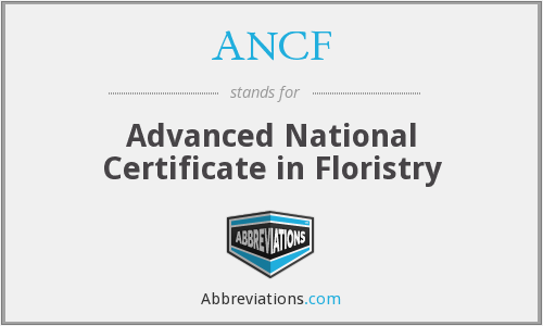 ANCF - Advanced National Certificate in Floristry