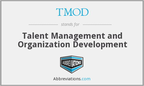 TMOD - Talent Management and Organization Development