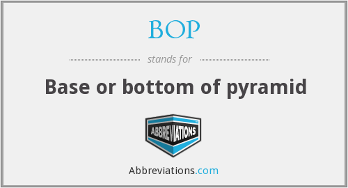 BOP - Base or bottom of pyramid