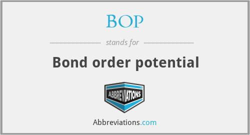 BOP - Bond order potential