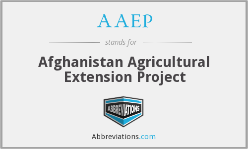 AAEP - Afghanistan Agricultural Extension Project