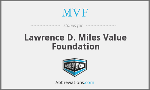 What does MVF stand for?