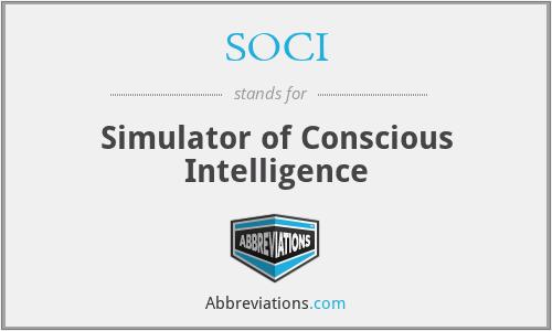 SOCI - Simulator of Conscious Intelligence