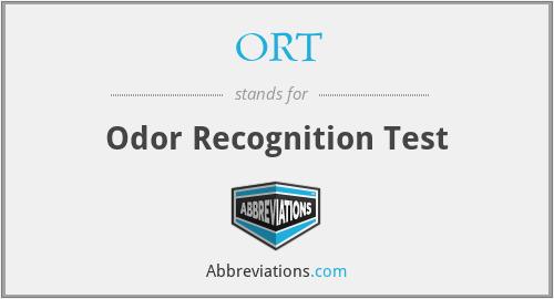 ORT - Odor Recognition Test