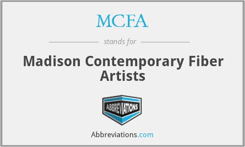 MCFA - Madison Contemporary Fiber Artists