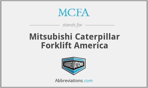 MCFA - Mitsubishi Caterpillar Forklift America
