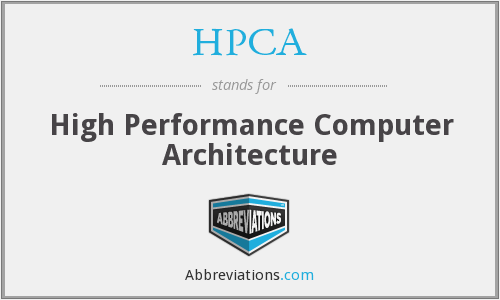 What does HPCA stand for?