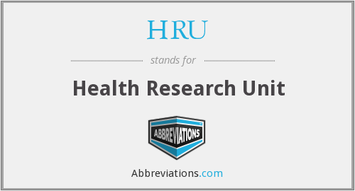 HRU - Health Research Unit