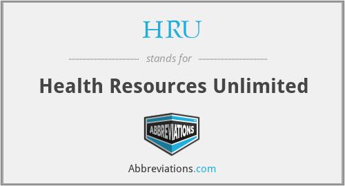 HRU - Health Resources Unlimited
