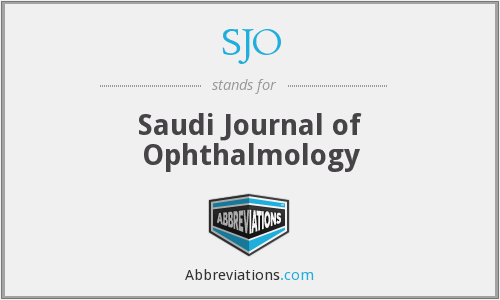 SJO - Saudi Journal of Ophthalmology