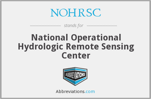 What does NOHRSC stand for?