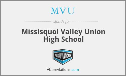 MVU - Missisquoi Valley Union High School