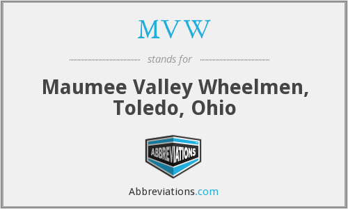 MVW - Maumee Valley Wheelmen, Toledo, Ohio