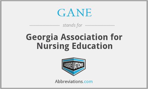 GANE - Georgia Association for Nursing Education